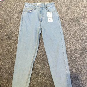 zara high rise mom jeans ankle length